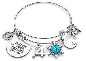 Doitory Teenage Girl Gifts for 14 Year Old Girl Birthday Gifts for Teenage Girls Charm Bracelets for Women Birthday Gifts for Women Teen Girl Gifts for Friends Female Jewelry for Women