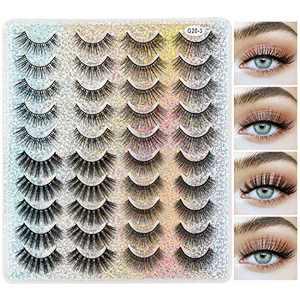 MAANGE 20 Pairs 4 Styles False Eyelashes, 3D Eyelashes Natural Look and Dramatic Thick Fake Eyelashes (G20-3)
