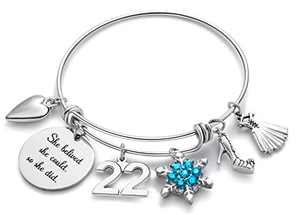 Doitory 22th Birthday Gifts for Women Charm Bracelets for Women Teen Girl Gifts for Friends Female Jewelry for Women