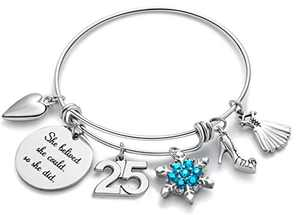 Doitory 25th Birthday Gifts for Women Charm Bracelets for Women Teen Girl Gifts for Friends Female Jewelry for Women