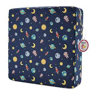 Zicac High Chair Portable Booster Seat Cushion Travel Dining Seat Pad for Toddler Kids Baby Infant Washable Thick Chair Seat Pads (Navy Blue)