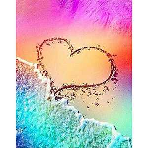 DIY 5D Diamond Painting Beach by Number Kits, Painting Full Drill Rhinestone Crystal Pictures Arts Craft for Home Wall Decor Gift (#3)