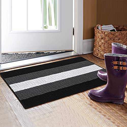 """MUBIN Indoor Doormat, 20"""" x 32"""" Front Door Floor Mat, Outdoor Rug Non-Slip Welcome Mats Machine Washable Absorb Resist Dirt Rug Carpet for Inside Floor Door Mat, Entryway, Patio, High Traffic Areas"""