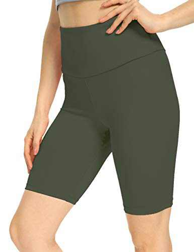 IOJBKI High Waisted Biker Shorts Tummy Control Yoga Workout Running Shorts with Pockets for Women(KH511-Grey-XXL