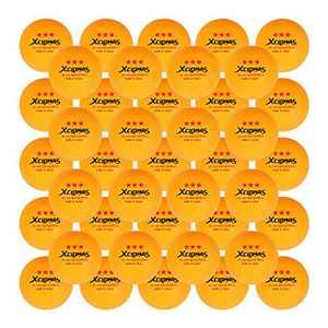 XCLOHAS Advanced Ping Pong Balls 3 Star 2.8G 40MM+ ABS Plastic Table Tennis Balls Orange 100 Pack Bulk Sale