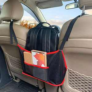 EnJFSTim Car net Pocket Handbag Holder Between Seats car Organizer Purse Storage Handbag Holder for car Front seat Pocket Book Holder.
