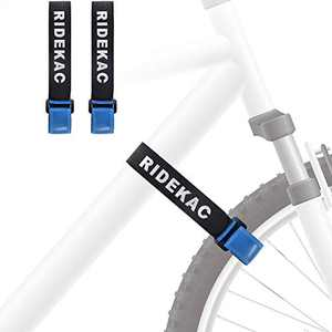 KAC Bike Rack Strap, Pack of 2 Bicycle Wheel Stabilizer Straps with Anti-Slip Gel Grip, 29.5 inches x 1.18 inches