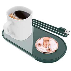 Coffee Mug Warmer,Smart Mug Warmer,Coffee Warmer for Desk with Auto Shut Off,Coffee Cup Warmer for Coffee Milk Tea,Candle Wax Cup Warmer Heating Plate(Without Mug)