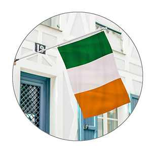 Foxany Ireland Decor, 3 x 5 Ft Ireland Shamrock Banner, Polyester & Brass Grommets & Double Stitched for Outdoor/Patio