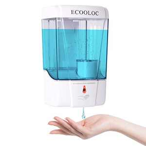 ECOOLOC Scrub Baddy Soap Dispenser ,Bathroom Shampoo/Kitchen Foaming Hand Automatic Soap Dispenser Touchless. White