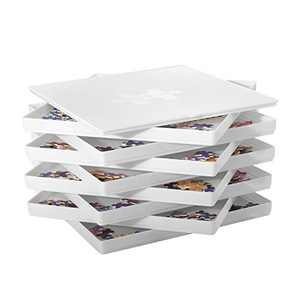 Anwenwen Puzzle Sorting Trays with Lid, 8 Trays Jigsaw Puzzle Accessories Sorters 10 x 10 in, Better Sort Patterns, Shapes and Colors, Fit 1500/2000 Pieces Puzzle Gift for Puzzlers, White