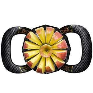 Apple Corer Slicer 12-Blade Apple Divider,4.1 Inches for very large apples,stainless steel Apple cutter,Core cutter,Apple corer (black)