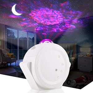 ALOVECO Sky Light Star Projector, LED Night Light Projector with Moon Star Nebula Cloud Touch&Voice Control LED Projector Lights Sky Projection Lamp for Kids, Bedroom,Game Room,Home Theatre