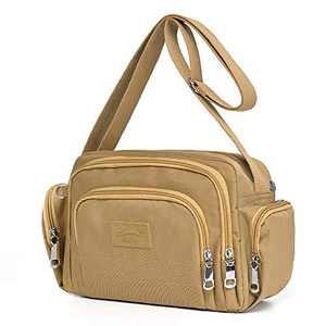 ELDA Crossbody Purses for Women Waterproof Nylon Pocketbooks Multi Pocket Travel Shoulder Bag