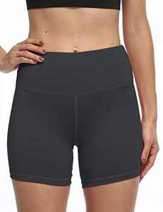 OXZNO Women's High Waist Workout Shorts Non See-Through Yoga Biker Athletic Shorts with Pockets for Women(P-DG,XL)