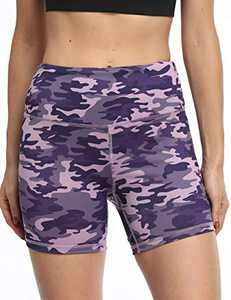 OXZNO Women's High Waist Workout Shorts Non See-Through Yoga Biker Athletic Shorts with Pockets for Women(LB,M)