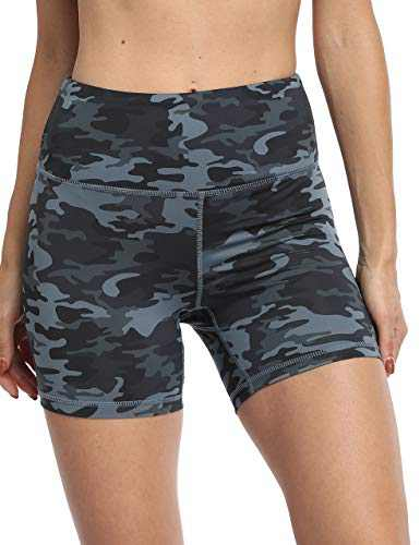 OXZNO Women's High Waist Workout Shorts Non See-Through Yoga Biker Athletic Shorts with Pockets for Women(P-DGC,M)