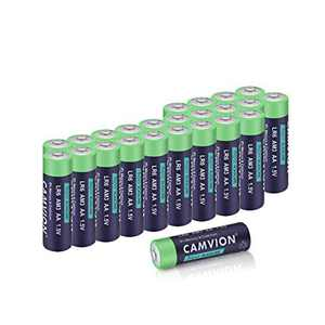 CAMVION 1.5V AA, LR6, AM3 Alkaline Batteries, High Capacity Double A Batteries (24 Pack)