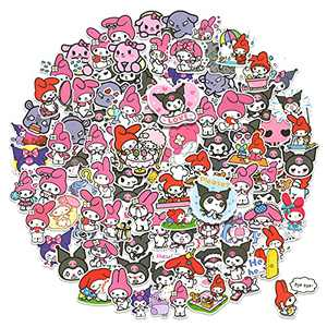 My Melody Stickers 100 pcs, Cute Kuromi Sanrio Stickers Toy for Girls Kids Teens, Waterproof Sticker for Water Bottle Scrapbook Luggage Furniture Bike Helmet Snowboard