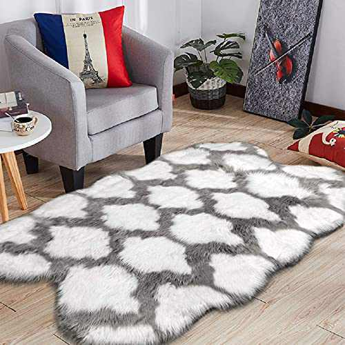 HEBE Large Size 4'x6' Shaggy Area Rugs for Kids Baby Children Ultra Soft Baby Crawling Mat Fluffy Carpet for Kids Room Bedside Nursery Rug