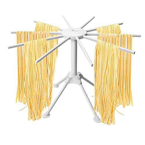 Pasta Drying Rack, Collapsible Noodle Spaghetti Drying Holder Stand, 10 Arms