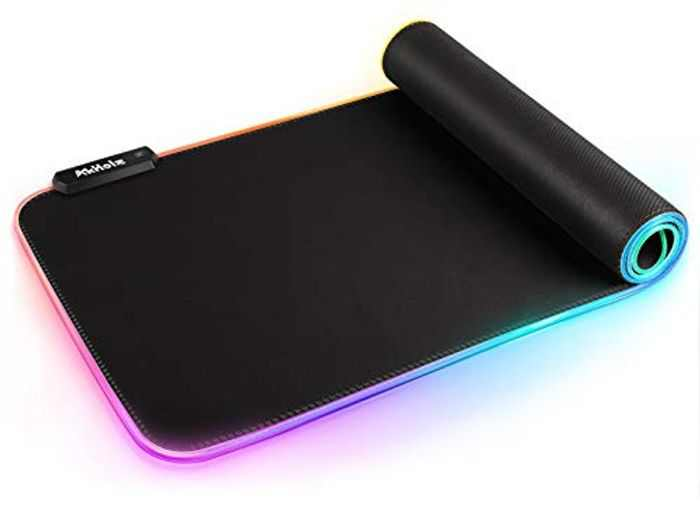 Gaming Mouse Mat, AkHolz RGB Mouse Pad for Game, Microsoft Office, Large Mouse Mat with Durable Stitched Edges and Non-Slip Rubber Base, High-Performance Gaming Accessories Mouse Mat 31.5X 11.8in