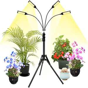 LED Grow Light wtih 288 Lamp Beads ALLOMN LED Grow Lights for Indoor Plants Full Spectrum Grow Lamp Plant Light Bulbs Grow Lights with Timer for Seedling 4 Modes with Tripod Stand Adjustable 17-63 in