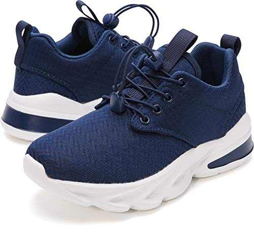 WHITIN Shoes Girls Little Kids Sneakers Boys Size 10 Blue Navy Youth Running Gym Walking Casual Fashion Lightweight Comfortable Breathable Zapatos de niñas No Slip Sports Cool Outdoor 28
