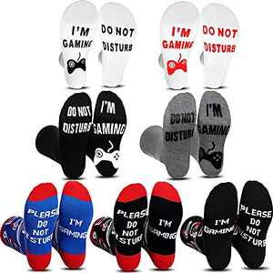 Gamer Gifts Sock, Do Not Disturb I'm Gaming Socks, 7 Pairs Funny Novelty Cotton Sock for Teen Boys Boyfriends Women Men