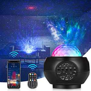 Star Projector, Star Night Light Projector for Bedroom with Bluetooth Speaker & Remote Control, Starlight Projector for Kids, Skylight Projector with Music Speaker, 3 in 1 Galaxy Light Projector