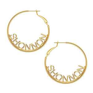 Name Hoop Earrings for Women Girls, 14K Gold Filled S925 Sterling Silver Post Personalized Name Earrings for Women Handmade Piercing Custom Name Earrings for Women Girls Jewelry SHONNON earrings