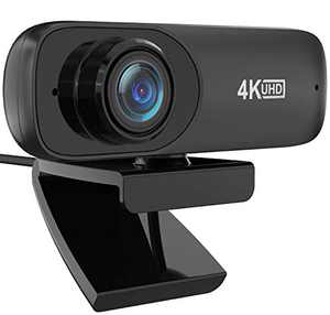 Full HD Webcam 4K, Automatic Facial Beautification Function(Upgrade),Live Streaming Camera with Stereo Microphone, Widescreen Video Calling and Recording,Advanced AutoFocus, Desktop, Laptop,YouTube