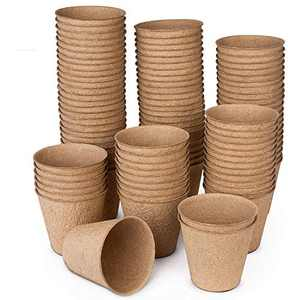 Peat Pots for Garden Seedling Tray ANGTUO 3in 100% Eco-Friendly Organic Germination Seedling Trays Biodegradable 100 Pack