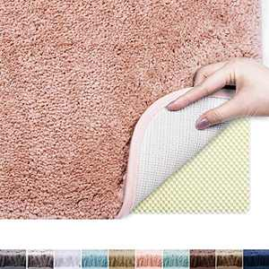 "Plentio Bath Rug, 20""x32"", Pink, Ultra Soft, Fluffy Thick, Absorbent Bathroom Mat Rugs, Machine Wash and Dry, Microfiber Cozy Bath Mat for Bathroom, Shower, Hot Tub, Spa"