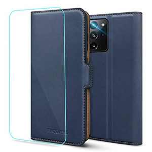 Pinzoveno Galaxy S20 FE Wallet Case, Flip Case with Card Holder Slots and Screen Protector Kickstand PU Leather Folio Phone Cover for Samsung Galaxy S20 FE - Blue