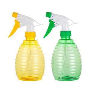 Pack of 2-16 Oz Empty Plastic Spray Bottles - Attractive Vibrant Colors - Multi Purpose Use Durable Random color BPA Free Material (16.9 OZ(500ML)2bottles)