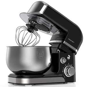 LILPARTNER Stand Mixer, 1000W Electric Kitchen Mixer Food Mixer, 6-Speed Tilt-Head Dough Mixer with 3.7-QT Stainless Steel Bowl, Mixing Beater, Whisk, Dough Hook