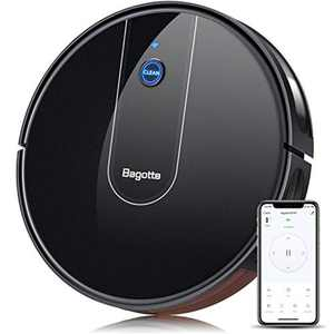 Bagotte Robot Vacuum Cleaner, WiFi & Alexa Connected, 1600Pa Strong Suction, Upgraded Auto Boost Robotic Vacuum Cleaner