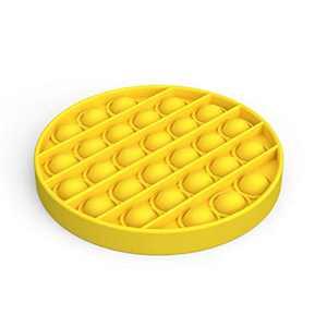 BonneChance Push pop pop Bubble Sensory Fidget Toy,Autism Special Needs Stress Reliever Silicone Stress Reliever Toy,Squeeze Sensory Toy (Yellow)