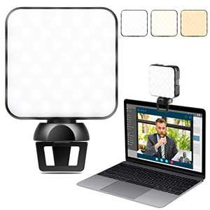 ENEGON Dimmable Video Conference Lighting, Warm/Cool Adjustable for Video Conferencing, Webcam, Remote Work/Zoom Call, Vloging and Live Streaming, Fits Laptops and Devices Thinner Than 0.32in/0.8cm