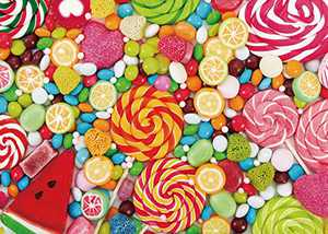 Conzy Puzzles for Adults 1000 Pieces Candy Jigsaw Puzzles for Adults, Teens, Kids Aged 12 Years Old and up Educational Gift Home Décor