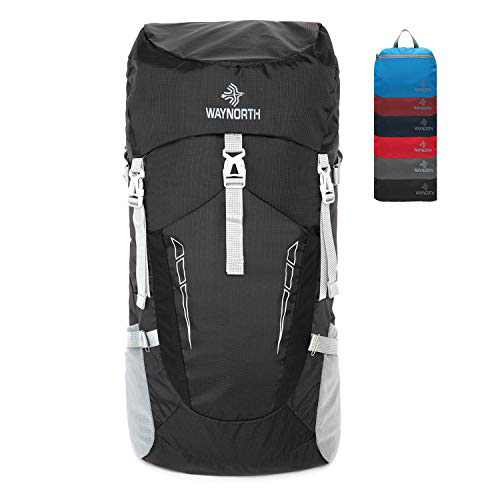 Waynorth 45L Waterproof Lightweight Packable Hiking Backpack Daypack for Women Men Outdoor Sport Travel Hiking Daypack Foldable