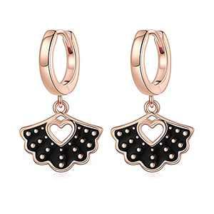 RBG Gifts Earrings for Women, S925 Sterling Silver Dangle Huggie Hoop Earrings Dainty RBG Earrings RBG Jewelry Gifts for Women Fans Of Ruth Bader Ginsburg