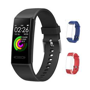 FITUP Fitness Tracker V100S,Heart Rate/Temperature/Sleep Waterproof Activity Tracker Message reminder 15 Days Battery