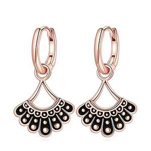 RBG Dissent Collar Earrings for Women, S925 Sterling Silver Dangle Huggie Hoop Earrings Dainty RBG Earrings RBG Jewelry Gifts for Women Fans Of Ruth Bader Ginsburg