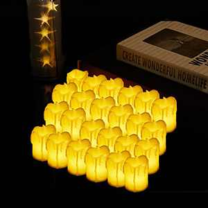 Flameless Candles 24 Pack Led Candles Bright and No Odor for Wedding and Home Decorations Tea Lights Candles Battery Operated for Seasonal and Festival Celebration