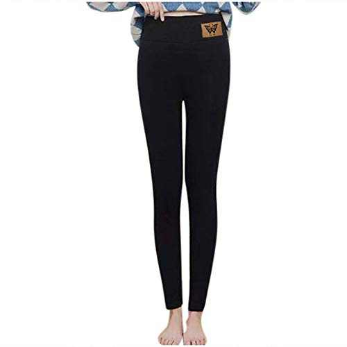 Winter Warm Fleece Lined Leggings for Women Lamb Velvet High Waist Pants
