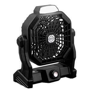 USB Powered Desk Fan Led Outdoor Camping Fan Tent Lantern 7800mAh Rechargeable Battery Operated Fan Portable Cooling Table Fan with Light Hanging Hook Long Lasting for Home Office (Black)