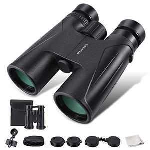 12x40 Waterproof and Fogproof Binoculars for Adults with a Smartphone Adapter, Nitrogen-Filled Compact High Powered Binoculars for Hunting Bird Watching Camping and Hiking with Weak Light Night Vision