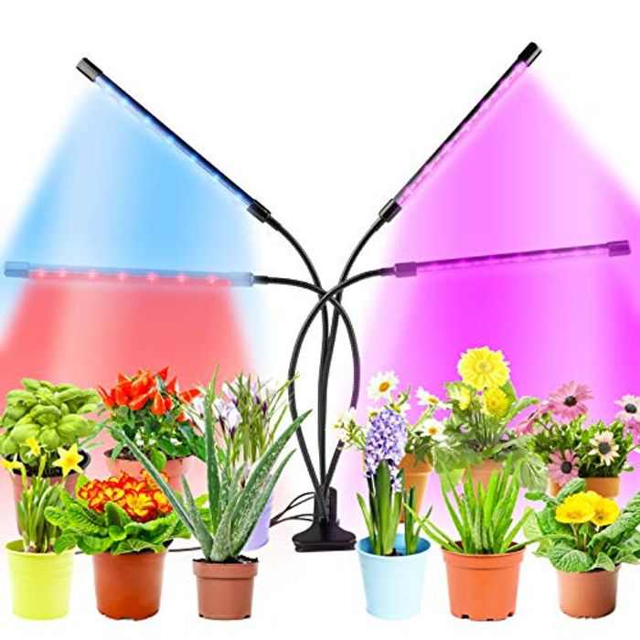 FunPa LED Plant Grow Light Full Spectrum,Newest Design Grow Light for Indoor Plants,80 LEDs Grow Light with 3 Switch Modes,3/9/12H Timer, 10 Dimmable Level